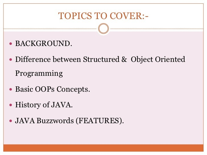 differences between structured and object oriented designs