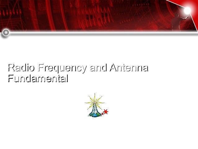 Radio frequency  antenna fundamental
