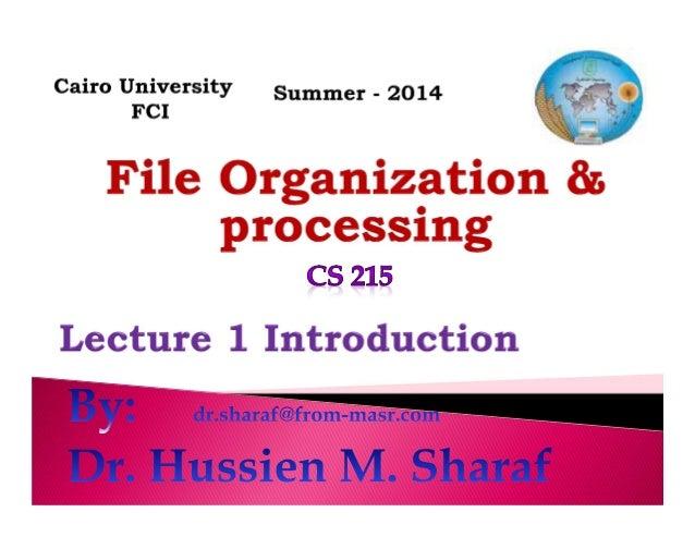 CS215 Lec 1   introduction