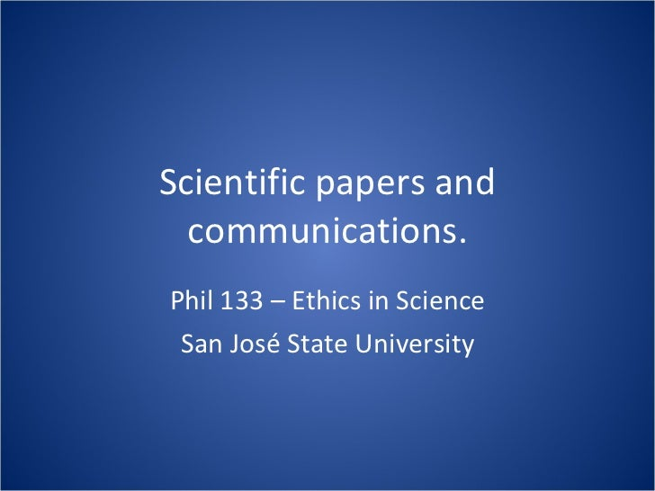Lec13 Scientific Papers and Communications