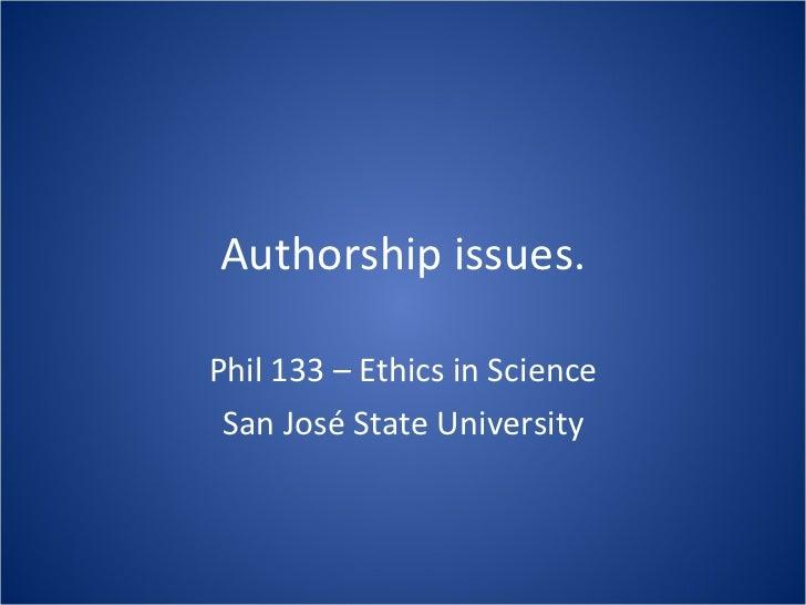 Lec 14 Authorship Issues