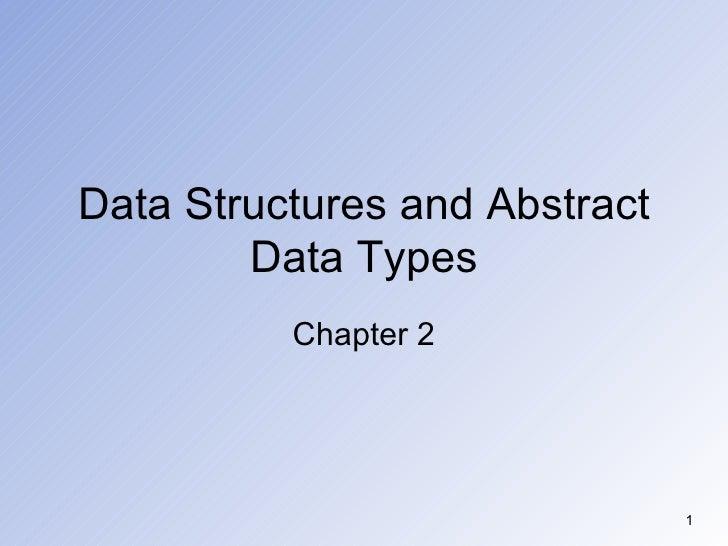 Lec2&3 data structure