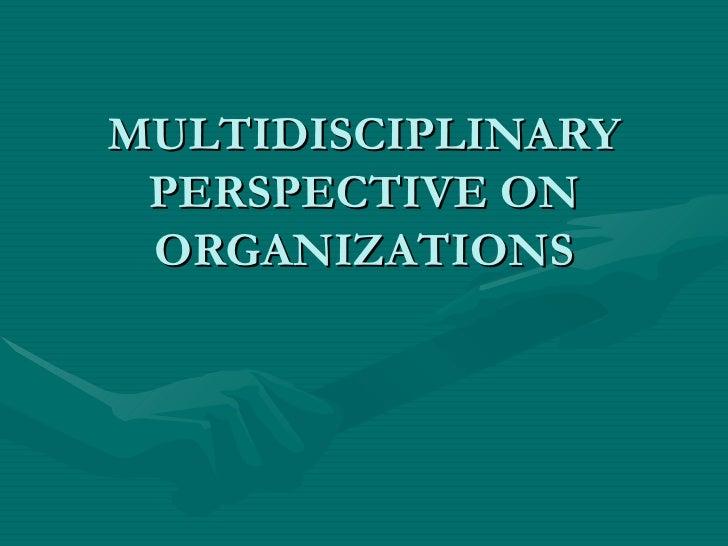 MULTIDISCIPLINARY PERSPECTIVE ON ORGANIZATIONS