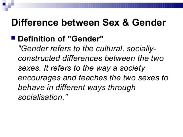 definition of sex and gender