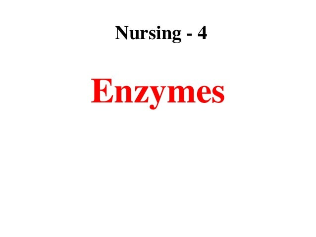 Lec 4 level 3-nu (enzymes)