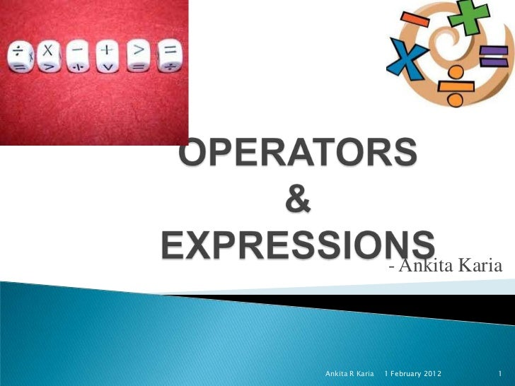 Operators and Expressions in Java