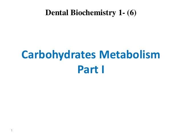 Lec 6  level 3-de (carbohydrate metabolism i)