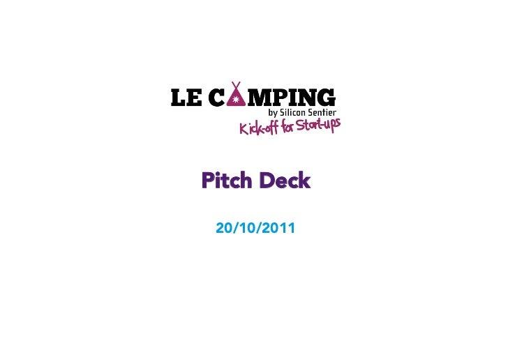 Pitch Deck 20/10/2011