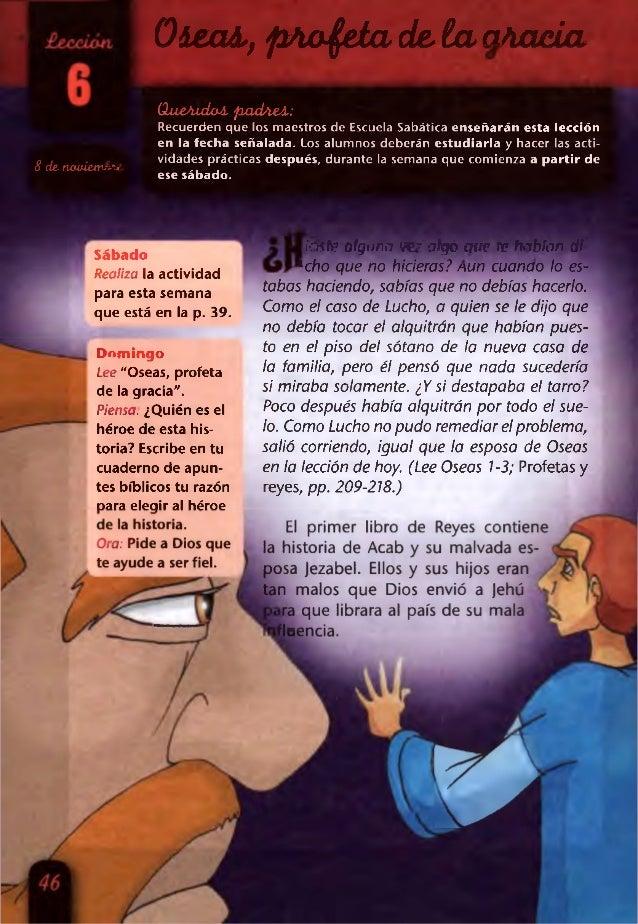 Lección 6 | Intermediarios | Oseas, profeta de la gracia | Escuela Sabática Menores