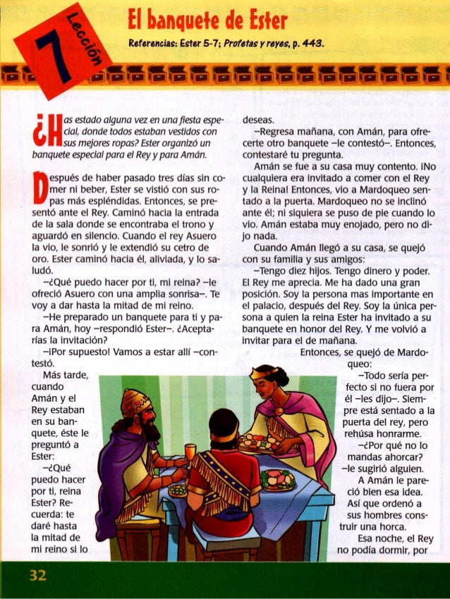 - ,  , In -fiIE¡—¡—IEIEl—'I—:  Erin  .  Referencias:  Ester 5-7; Profetas y reyes,  p.  443.  fi  4 ¡7- r-*  a5 estado algun...