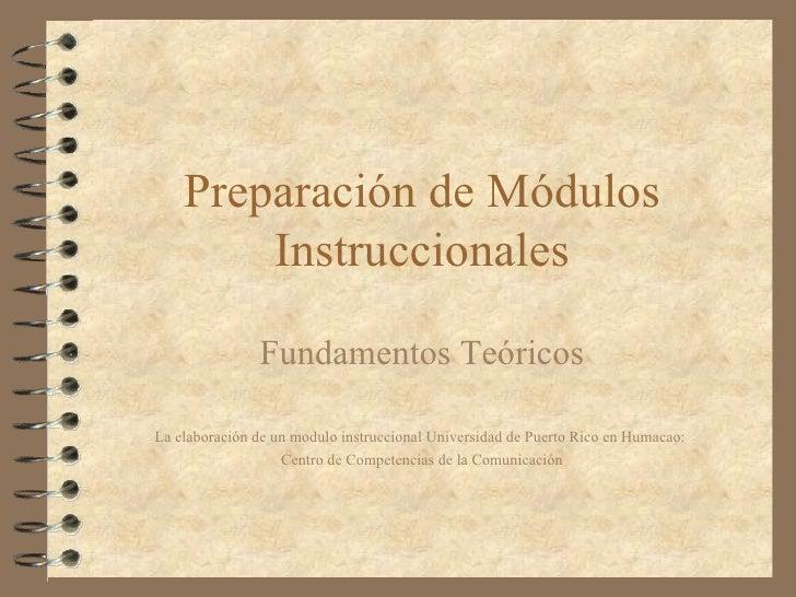 Leccion Preparacion De Modulos Instruccionales