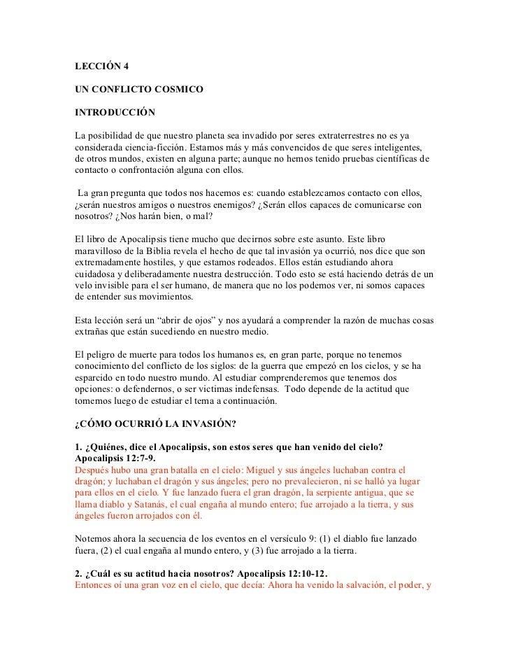 Leccion 04 Un Conflicto Cosmico