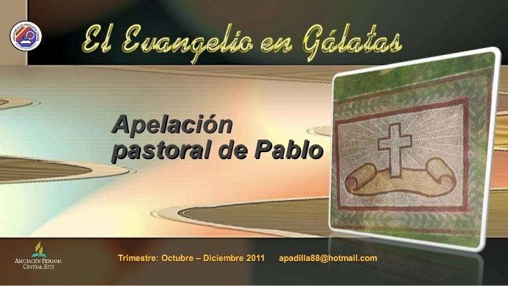 Apelación pastoral de Pablo