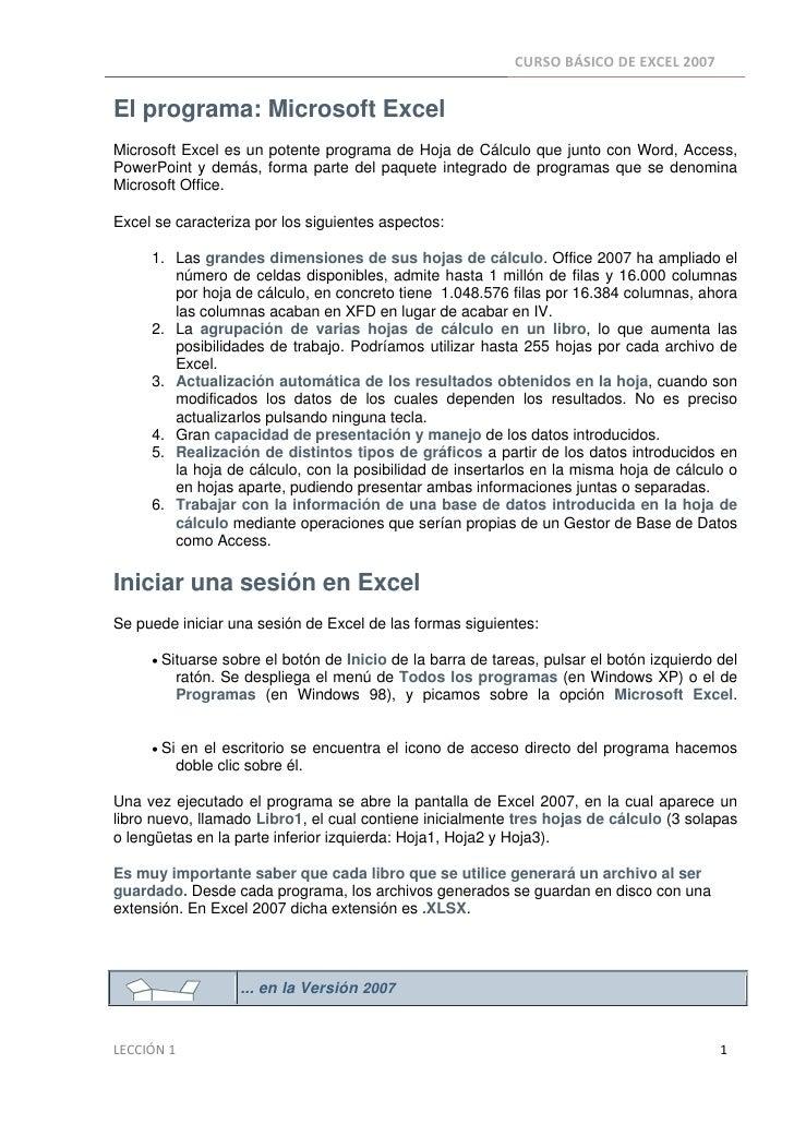 Leccion 1 excel2007
