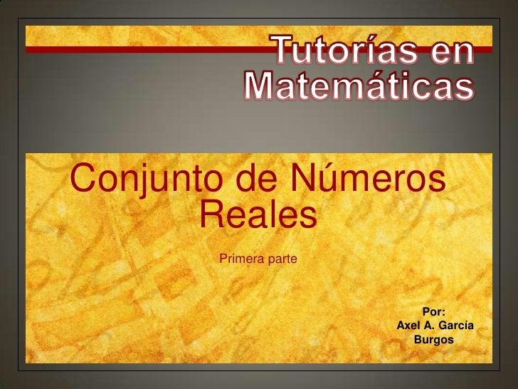 Conjuntos de Números Reales