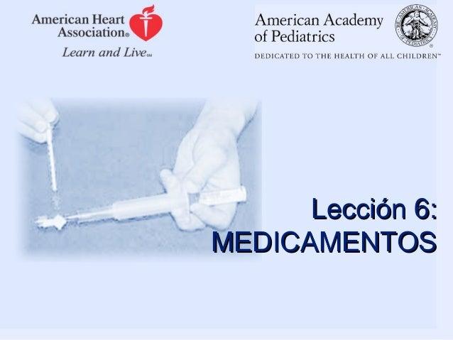 Lección 6: MEDICAMENTOS
