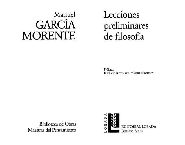 Manuel         Lecciones   GARCÍA                  preliminaresMORENlE                  de filosona                       ...