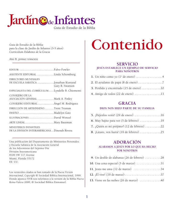 Leccion infantes 1 trim 2011 for Leccion jardin infantes 2016