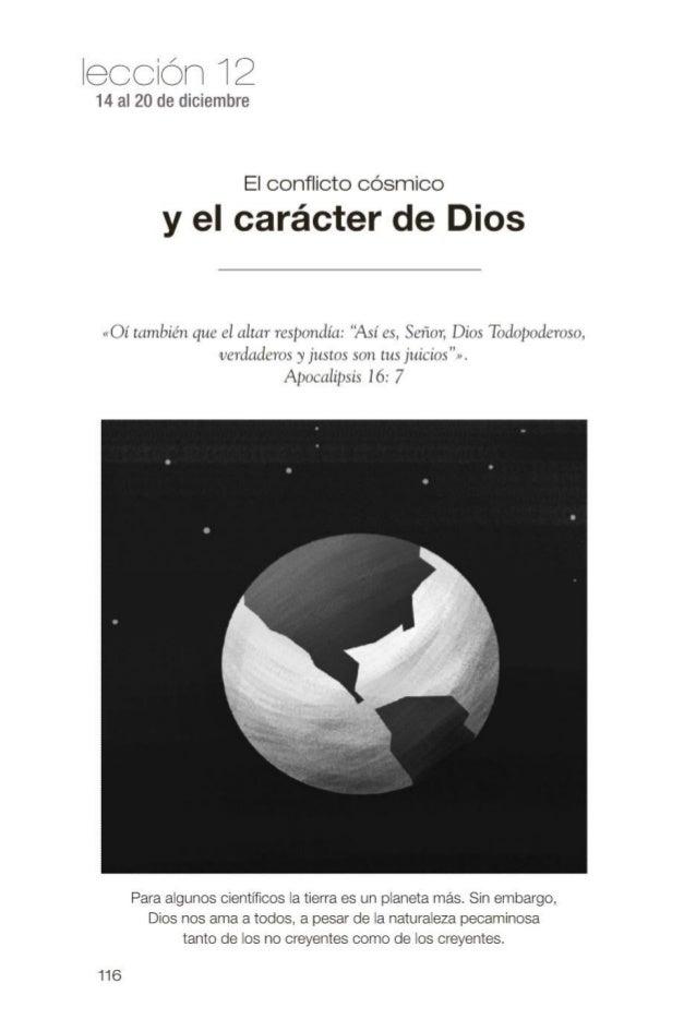 Leccion joven el conflicto cosmico y el caracter de Dios