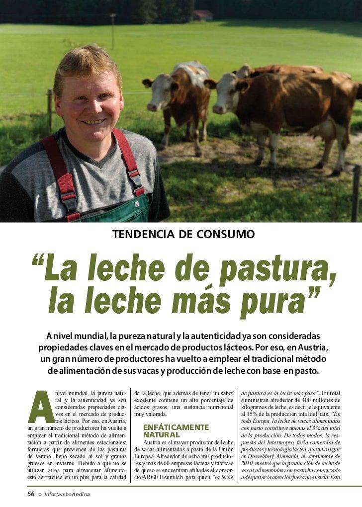 """tendencia de consumo """"La leche de pastura,  la leche más pura""""       A nivel mundial, la pureza natural y la autenticidad ..."""