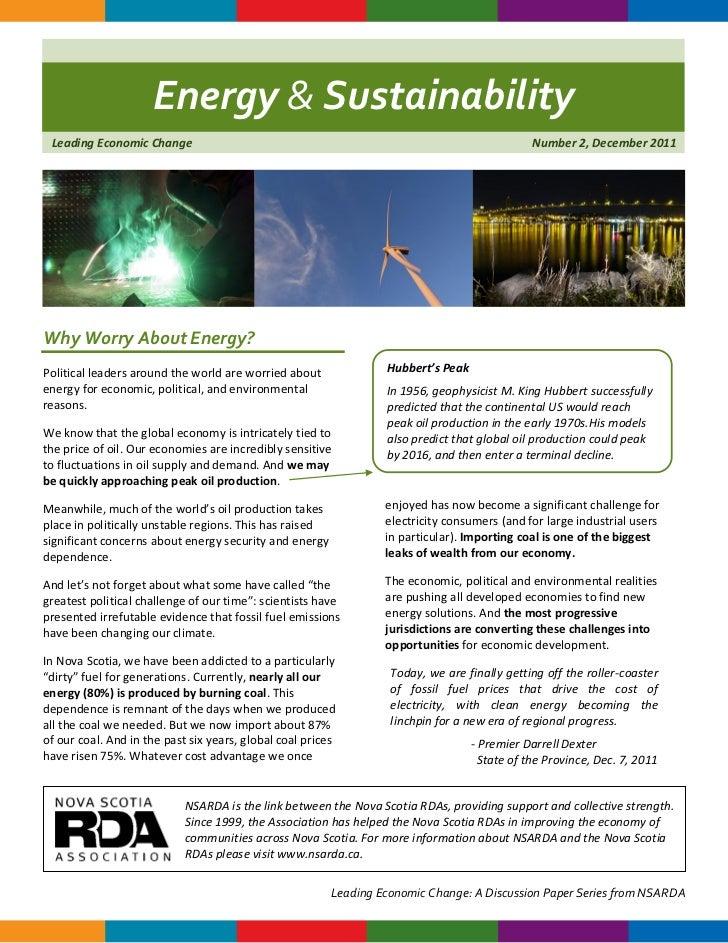 Energy & Sustainability Leading Economic Change                                                                       Numb...