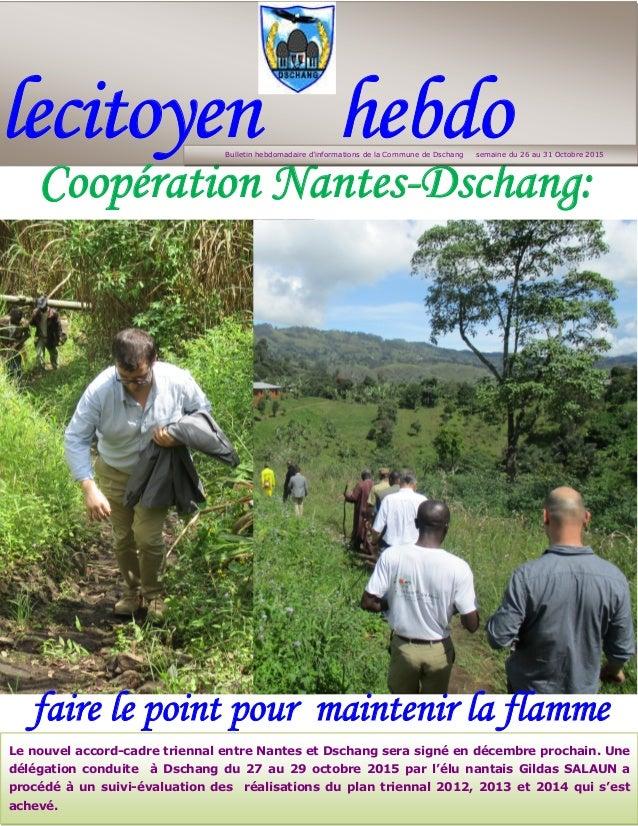 lecitoyen hebdo - - Coopération Nantes-Dschang: faire le point pour maintenir la flamme