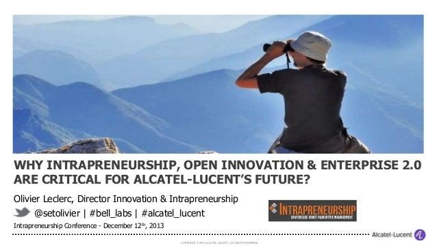 Leclerc keynote intrapreneurshipconference dec2013