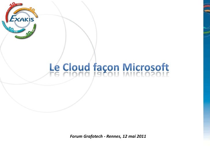 Le cloud microsoft - Version courte ;)