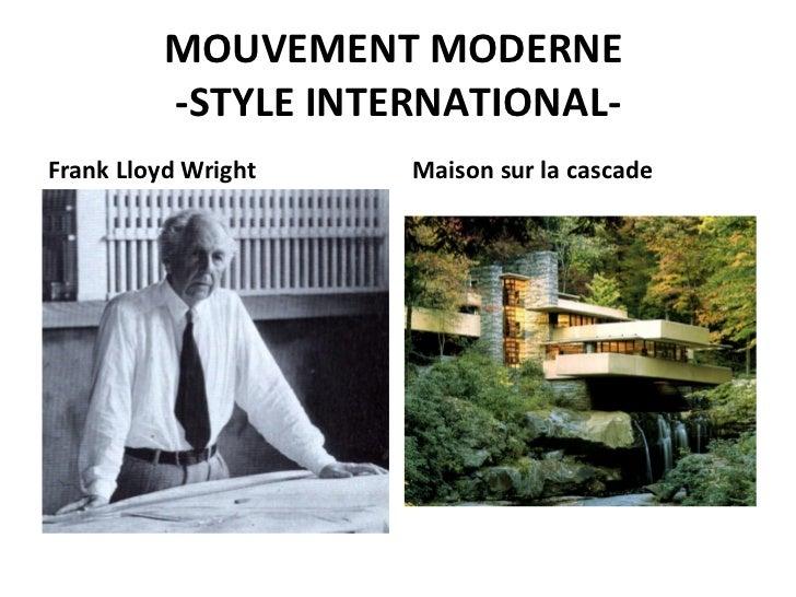 Le corbusier et le mouvement moderne archiguelma - La maison sur la cascade frank lloyd wright ...