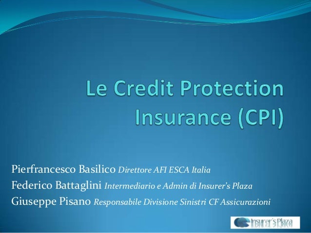 Le Credit Protection Insurance (CPI)