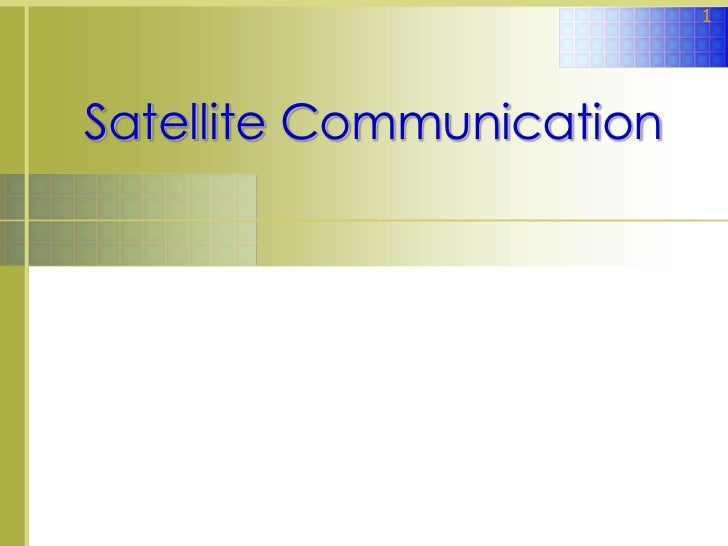 Lec satellite communication