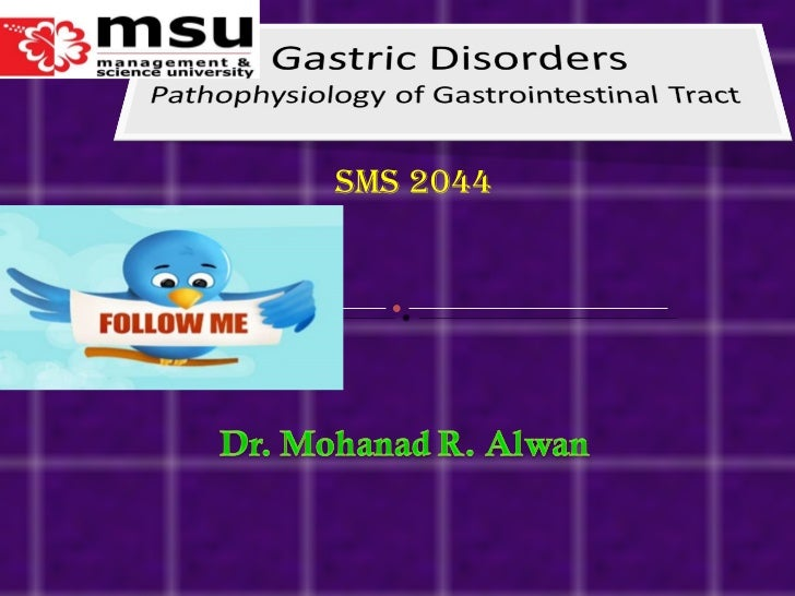 Lect 4- gastric disord