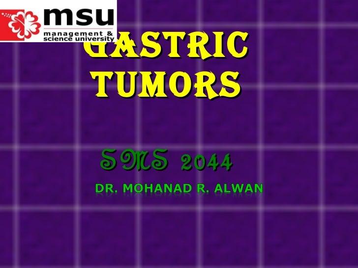 Gastric Tumors SMS 2044