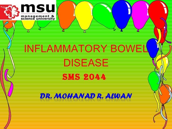 INFLAMMATORY BOWEL DISEASE SMS 2044