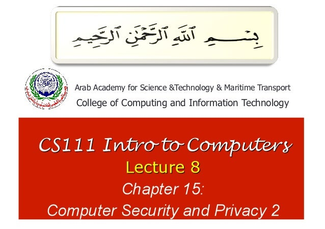 1Arab Academy for Science &Technology & Maritime TransportCollege of Computing and Information Technology