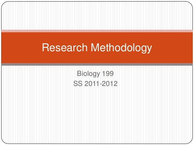 Lect4 research methodology