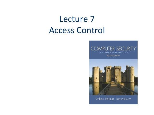 Topic 7 access control