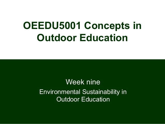 Lect 8 env sustainability in oe 2013