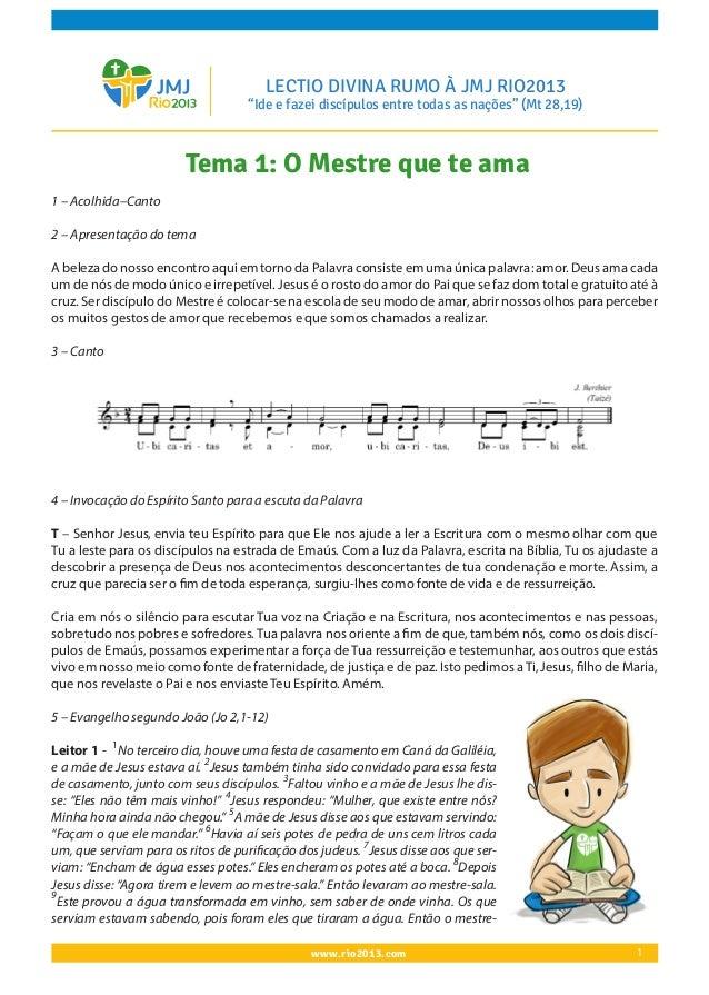 Lectio divina JMJ2013 001