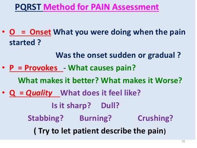 Pain assessment method