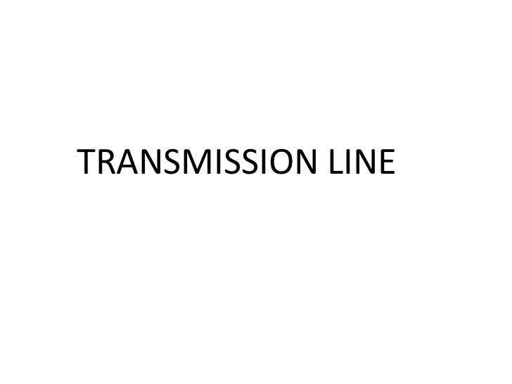 Lec transmission line