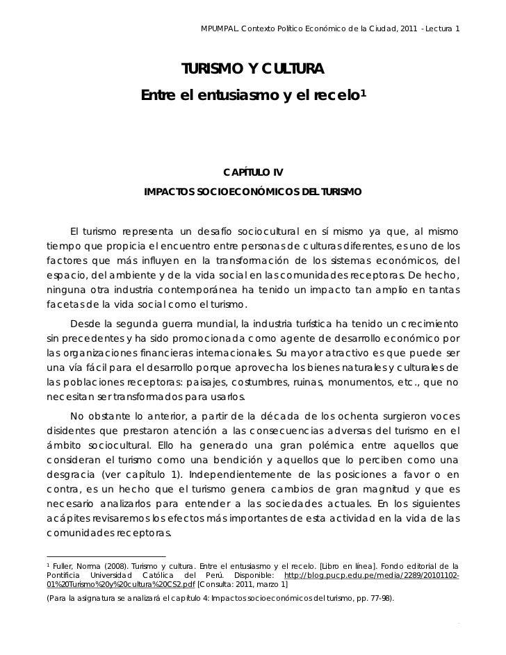 MPUMPAL. Contexto Político Económico de la Ciudad, 2011 - Lectura 1                                                       ...