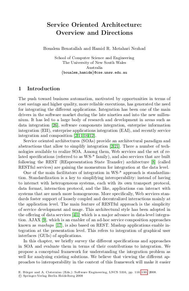 Lectura 2.3   soa-overview-directions-benatallah