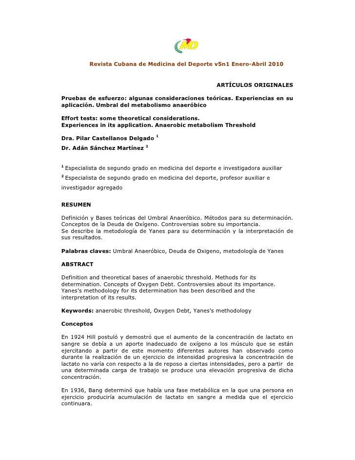 Revista Cubana de Medicina del Deporte v5n1 Enero-Abril 2010                                                          ARTÍ...