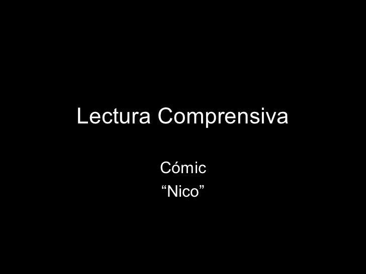 "Lectura Comprensiva       Cómic       ""Nico"""