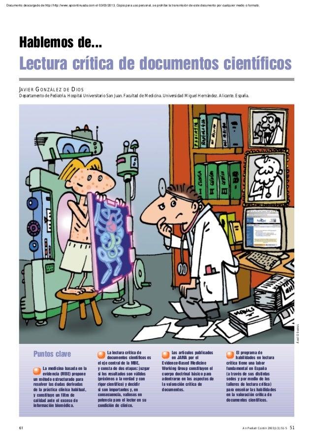 Lectura critica de documentos cientificos