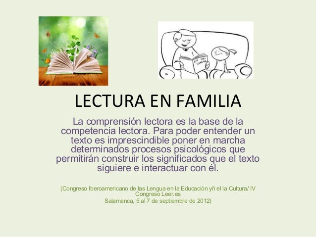 guia lectura familia: