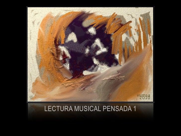 vumsa                              2010  LECTURA MUSICAL PENSADA 1