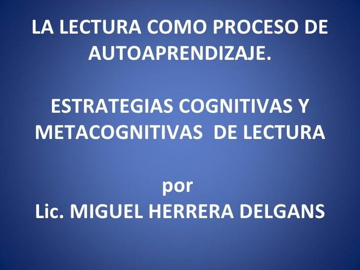 cognitivas y metacognitivas para la comprension de la lectura: