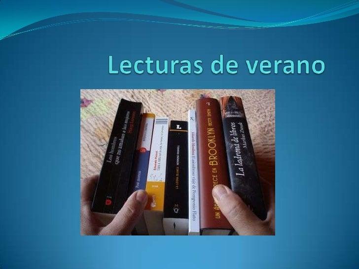 Lecturas de verano Biblioteca Campus Segovia